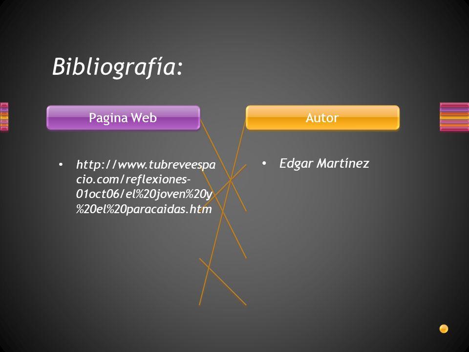 Bibliografía: Edgar Martínez http://www.tubreveespa cio.com/reflexiones- 01oct06/el%20joven%20y %20el%20paracaidas.htm