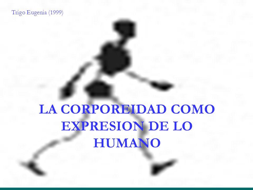 LA CORPOREIDAD COMO EXPRESION DE LO HUMANO Trigo Eugenia (1999)