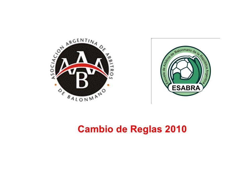 CAMBIO DE REGLAS 2010 REGLAS 8 Y 16 Faltas y conductas antideportivas; Sanciones Realizado por Rubén Gómez y Omar Salguero
