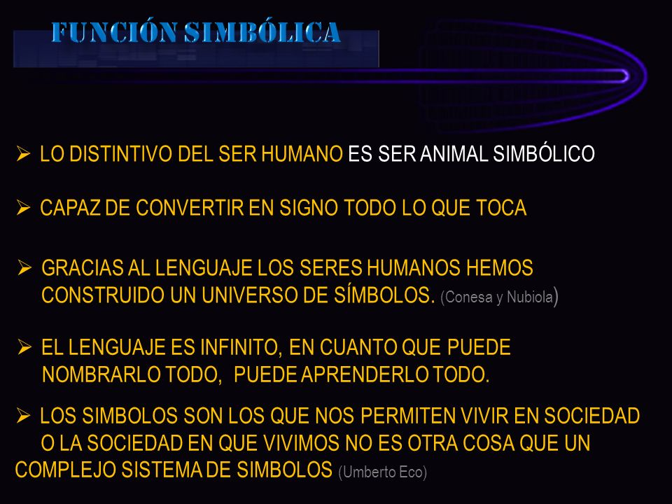LO DISTINTIVO DEL SER HUMANO ES SER ANIMAL SIMBÓLICO CAPAZ DE CONVERTIR EN SIGNO TODO LO QUE TOCA GRACIAS AL LENGUAJE LOS SERES HUMANOS HEMOS CONSTRUI