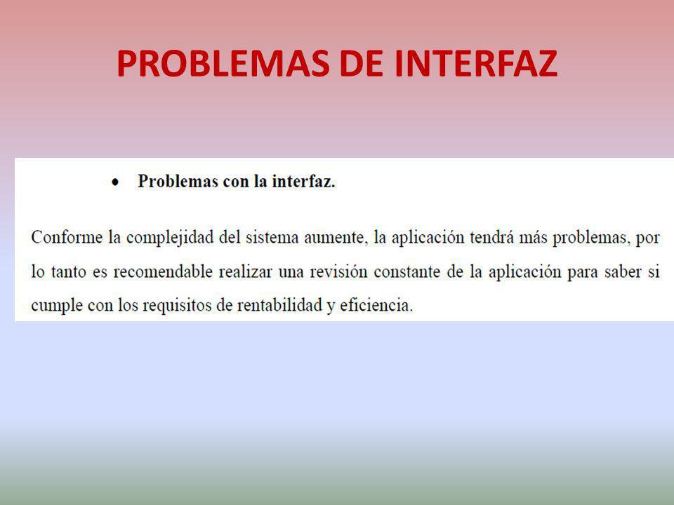 PROBLEMAS DE INTERFAZ