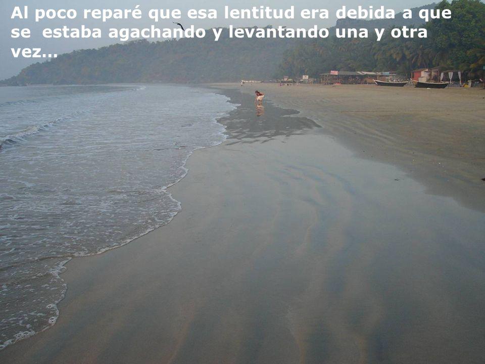 Cierto día, mientras descansaba en una playa prácticamente solitaria, observé a otra persona en la lejanía que se acercaba muy lentamente …