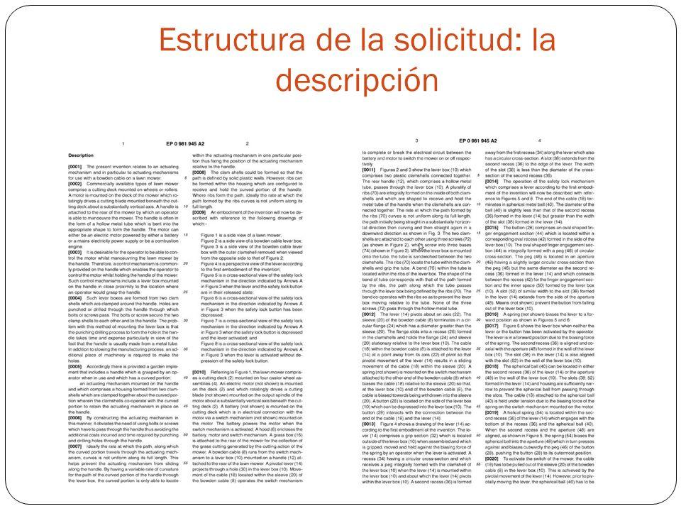 Estructura de la solicitud: la descripción