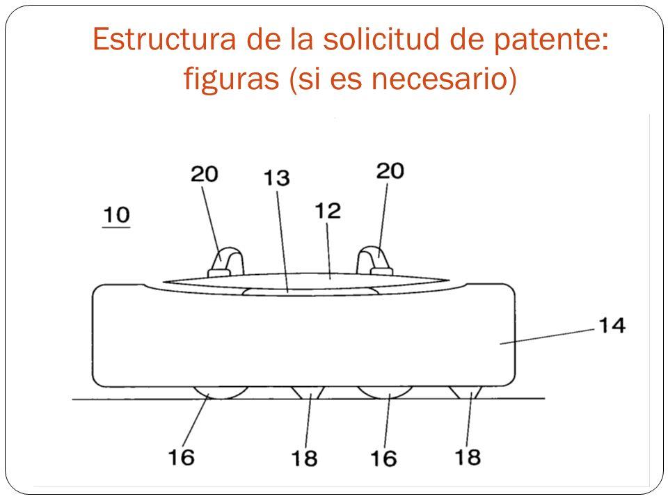 Estructura de la solicitud de patente: figuras (si es necesario) Figures: if necessary