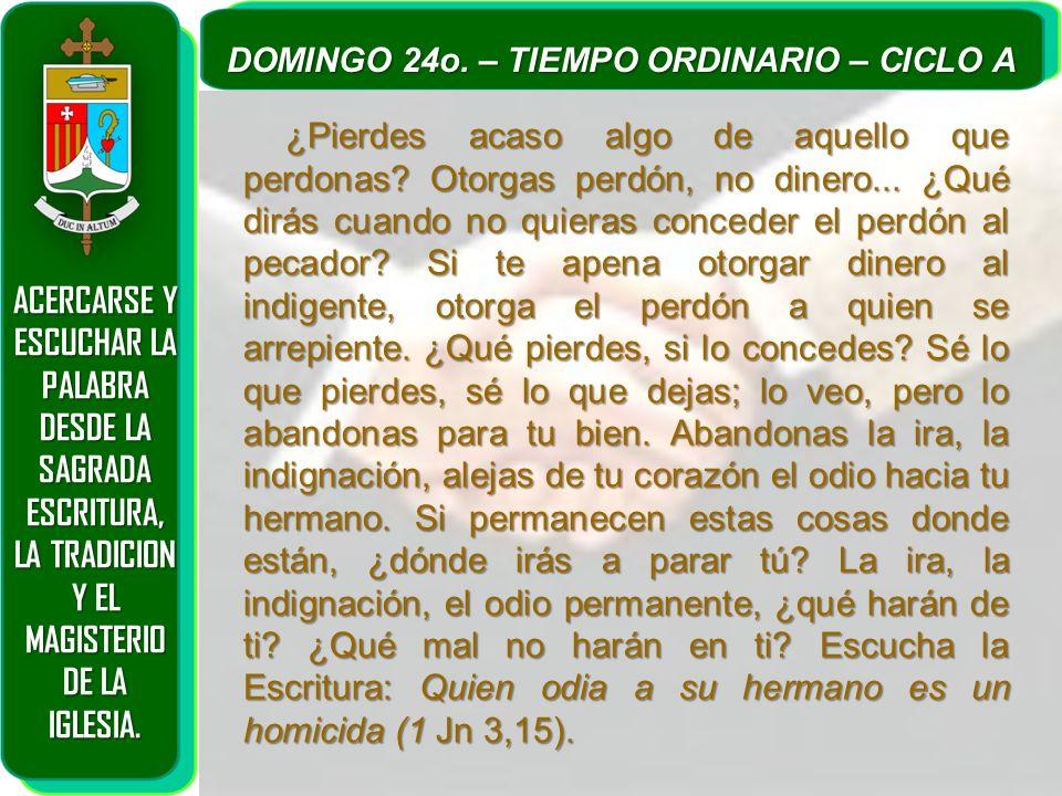 ACERCARSE Y ESCUCHAR LA PALABRA DESDE LA SAGRADA ESCRITURA, LA TRADICION Y EL MAGISTERIO DE LA IGLESIA. DOMINGO 24o. – TIEMPO ORDINARIO – CICLO A ¿Pie
