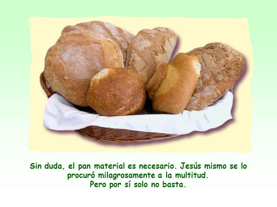 Jesús, aplicando a sí mismo la imagen del pan, quiere decir que su persona y su enseñanza son indispensables para la vida espiritual del hombre, así c