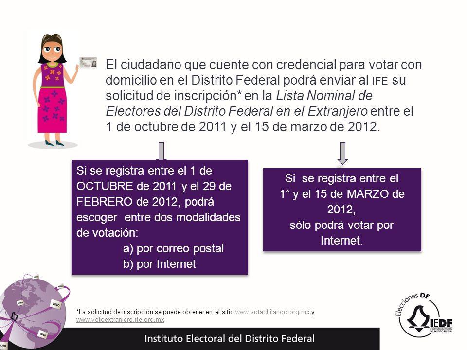 *La solicitud de inscripción se puede obtener en el sitio www.votachilango.org.mx y www.votoextranjero.ife.org.mxwww.votachilango.org.mx www.votoextra