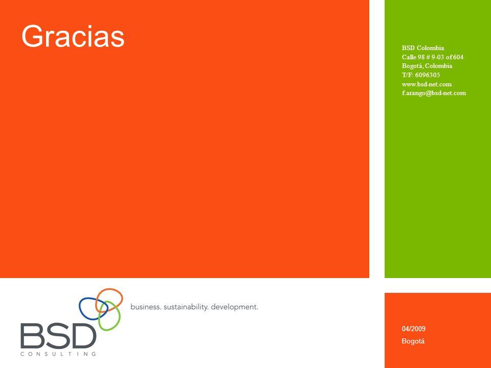 Gracias BSD Colombia Calle 98 # 9-03 of 604 Bogotá, Colombia T/F: 6096305 www.bsd-net.com f.arango@bsd-net.com 04/2009 Bogotá