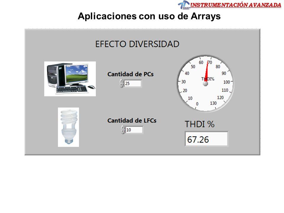 INSTRUMENTACIÓN AVANZADA Trabajando con arrays usando funciones de LabVIEW Ejercicio 13)