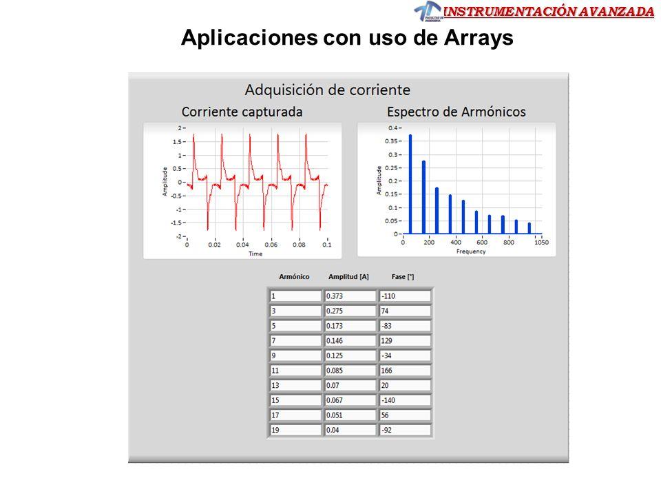 INSTRUMENTACIÓN AVANZADA Aplicaciones con uso de Arrays