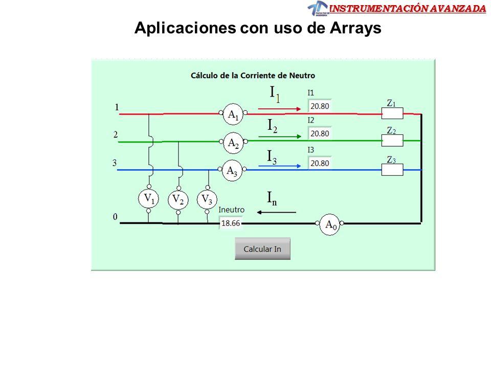INSTRUMENTACIÓN AVANZADA Ejercicio 15 Ejercicio 15 Ejercicio 15.- En el diagrama de bloques genere un array de 10 elementos conformados por la medición de una entrada analógica de la placa USB PIC18F2550, en intervalos de 250 ms.