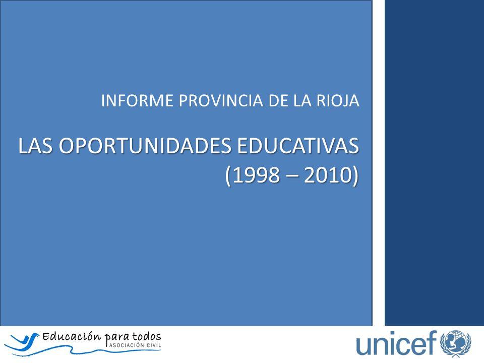 INFORME PROVINCIA DE LA RIOJA LAS OPORTUNIDADES EDUCATIVAS (1998 – 2010)