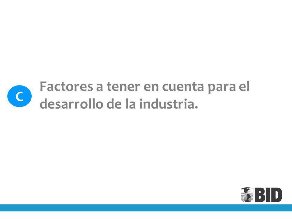 Factores a tener en cuenta para el desarrollo de la industria. C