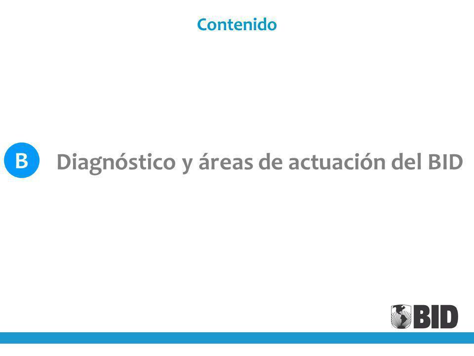 B Diagnóstico y áreas de actuación del BID Contenido