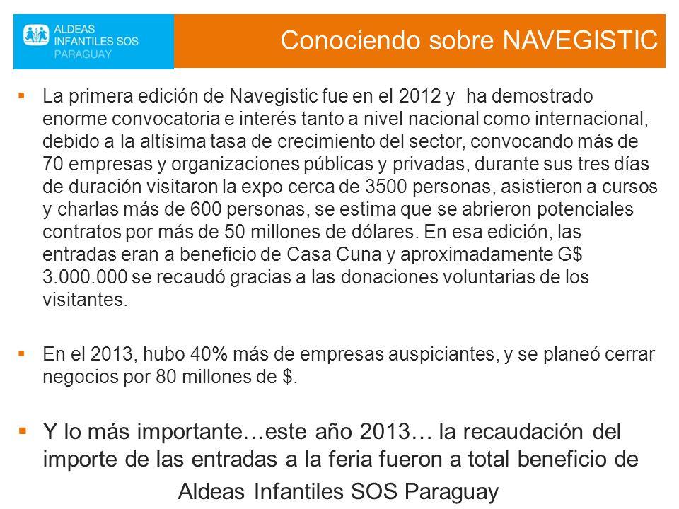 Conociendo sobre NAVEGISTIC La primera edición de Navegistic fue en el 2012 y ha demostrado enorme convocatoria e interés tanto a nivel nacional como