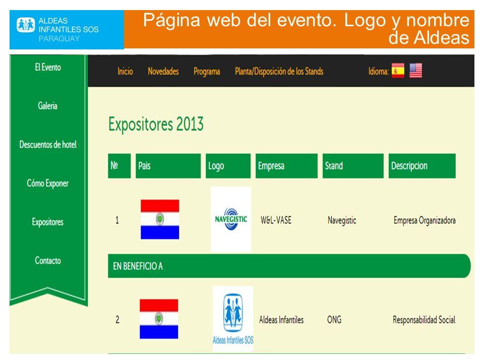 Logo en backpodium y video institucional en cada TV del evento