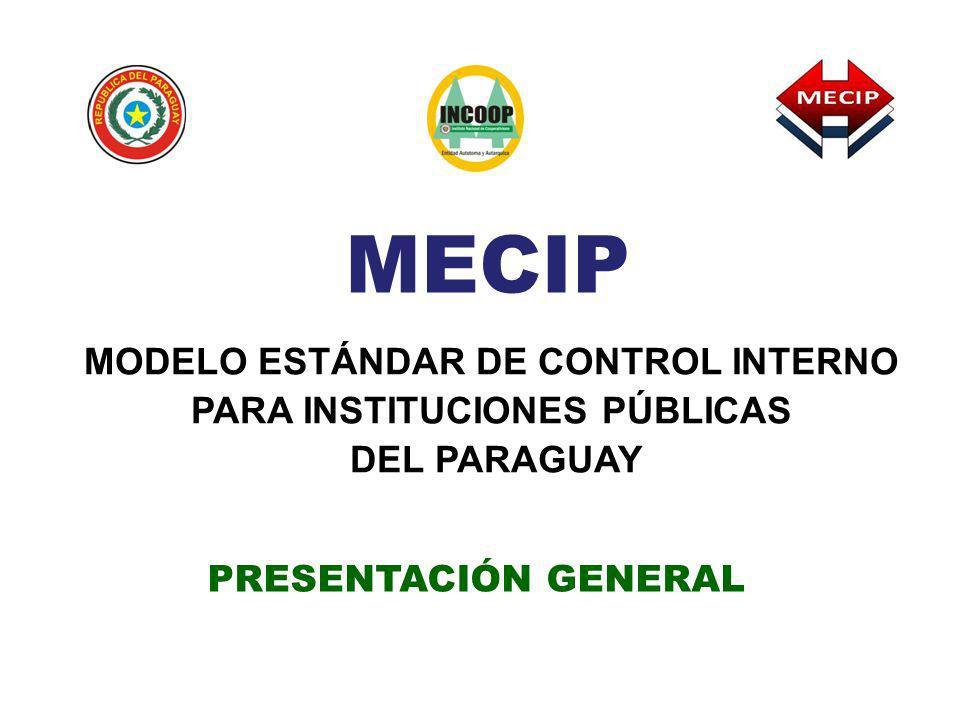 MECIP MODELO ESTÁNDAR DE CONTROL INTERNO PARA INSTITUCIONES PÚBLICAS DEL PARAGUAY PRESENTACIÓN GENERAL
