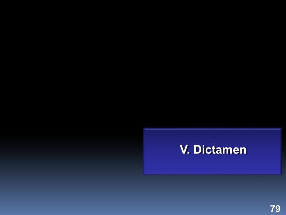 79 V. Dictamen