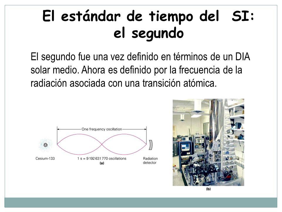 El segundo fue una vez definido en términos de un DIA solar medio.