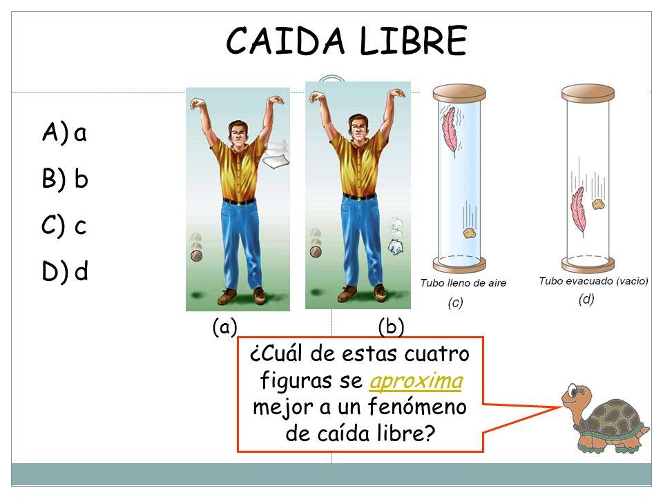 CAIDA LIBRE ¿Cuál de estas cuatro figuras se aproxima mejor a un fenómeno de caída libre.