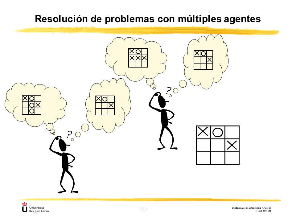 – 1 – Resolución de problemas con múltiples agentes Fundamentos de Inteligencia Artificial 3º Ing. Sup. Inf
