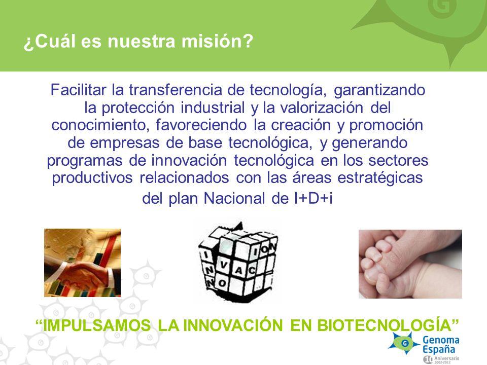 ¿Cuál es nuestra misión? Facilitar la transferencia de tecnología, garantizando la protección industrial y la valorización del conocimiento, favorecie