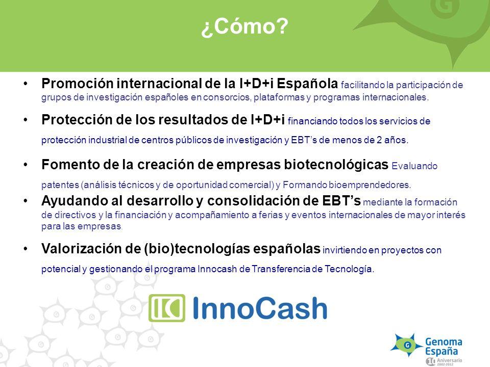 Promoción internacional de la I+D+i Española facilitando la participación de grupos de investigación españoles en consorcios, plataformas y programas