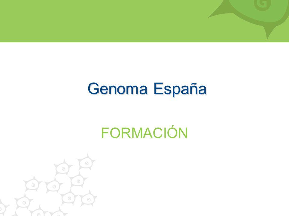 Genoma España FORMACIÓN