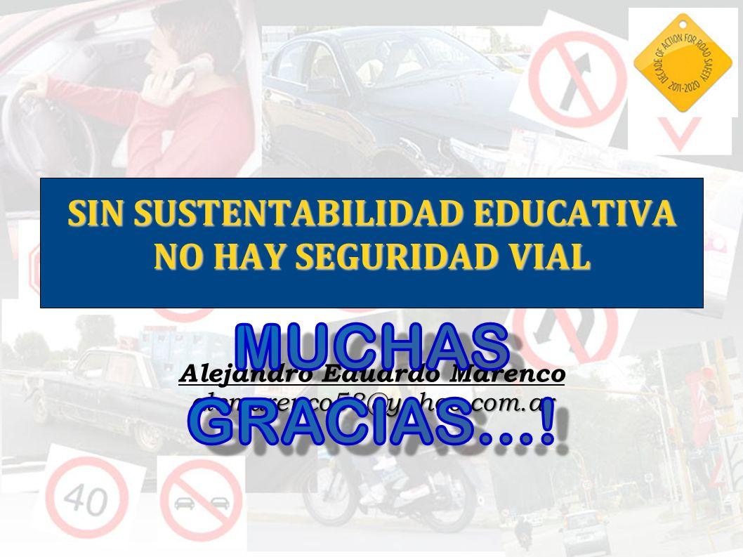 SIN SUSTENTABILIDAD EDUCATIVA NO HAY SEGURIDAD VIAL Alejandro Eduardo Marenco alemarenco58@yahoo.com.ar