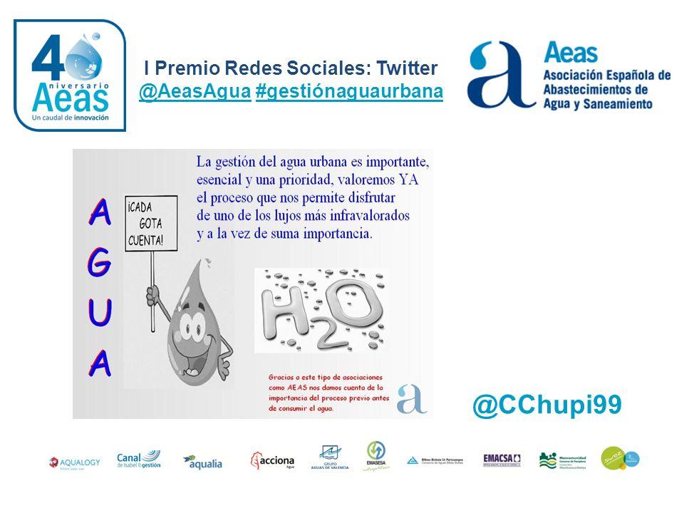 I Premio Redes Sociales: Twitter @AeasAgua #gestiónaguaurbana @CChupi99
