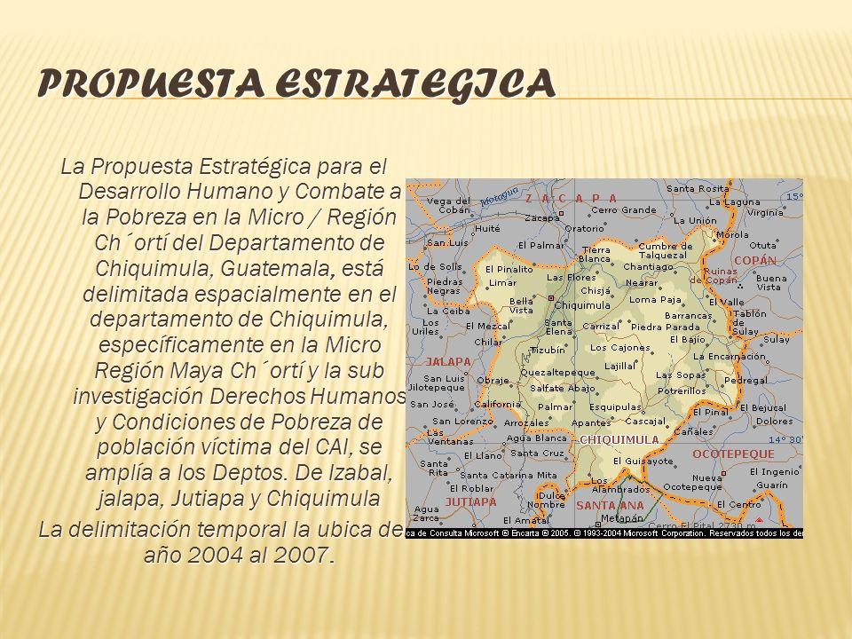 PROPUESTA ESTRATEGICA Segunda Parte: Desarrollo Humano y Pobreza: Propuesta Estratégica para el Desarrollo Humano y Combate a la Pobreza en la Micro /