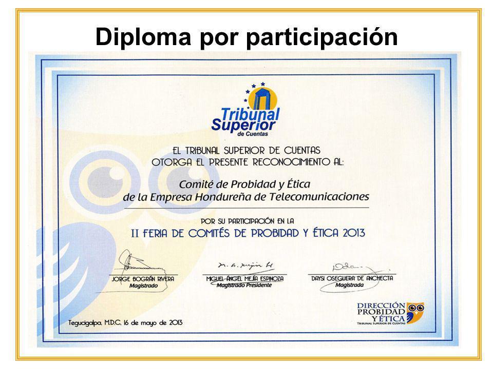 Diploma por participación