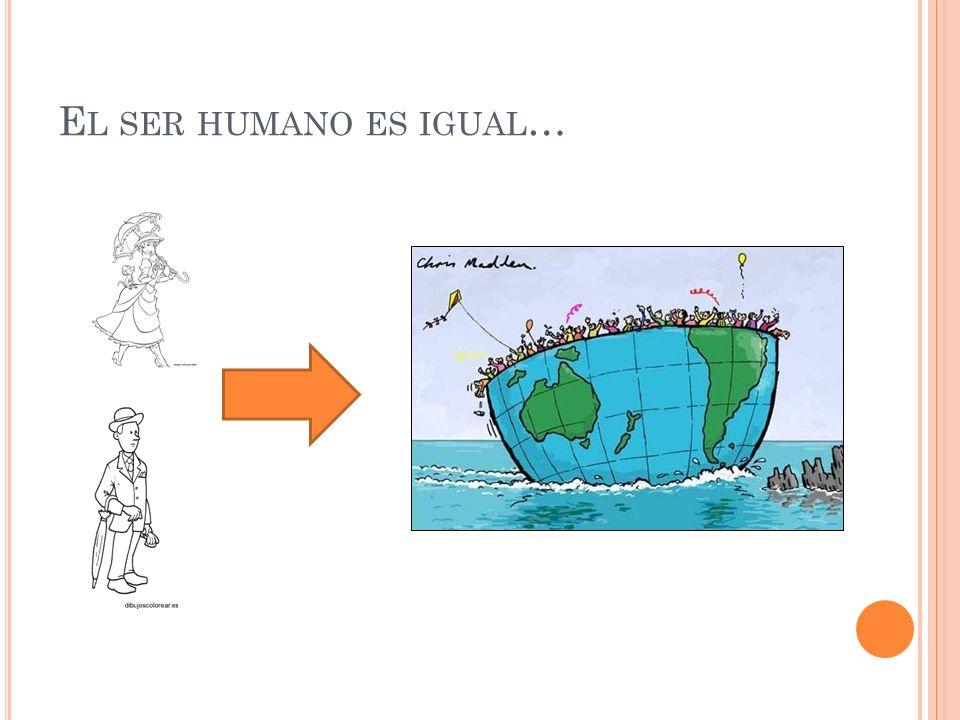 E L SER HUMANO ES IGUAL …