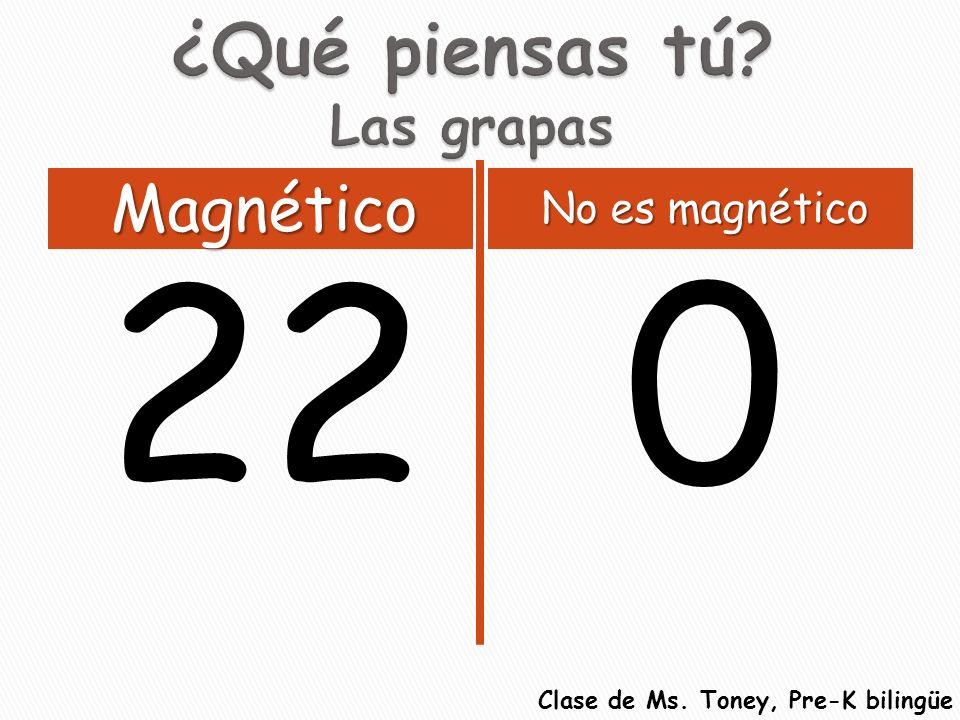 220 Magnético No es magnético Clase de Ms. Toney, Pre-K bilingüe