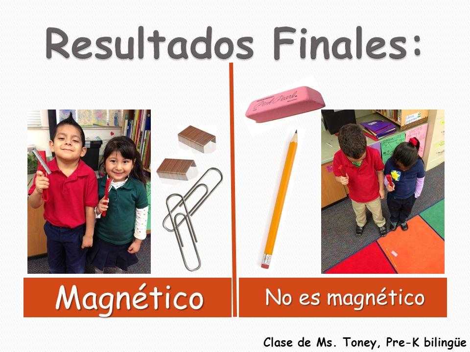 Magnético No es magnético Clase de Ms. Toney, Pre-K bilingüe