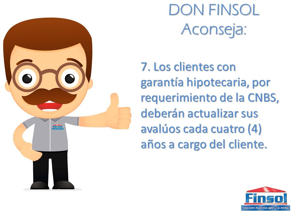 DON FINSOL Aconseja: 7.