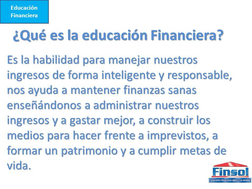 ¿Qué es la educación Financiera.