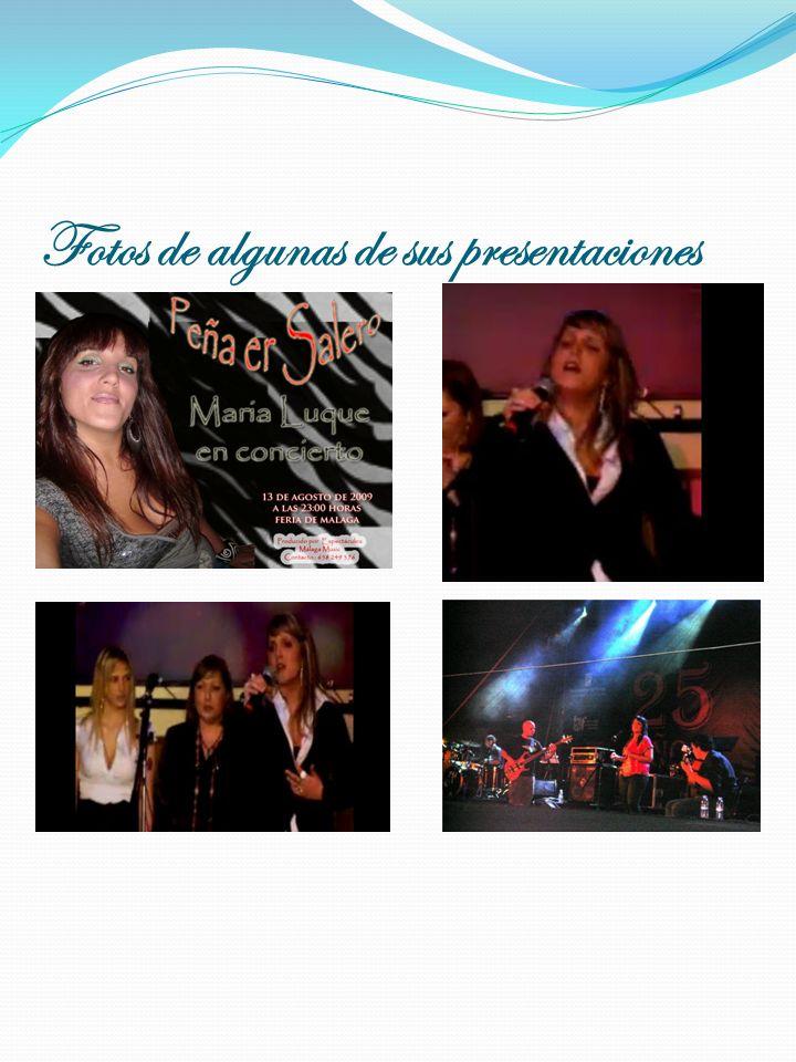 Fotos de algunas de sus presentaciones