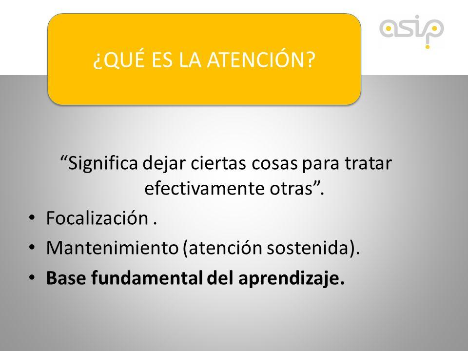 Carencias en la percepción visual.Carencias en la percepción auditiva.