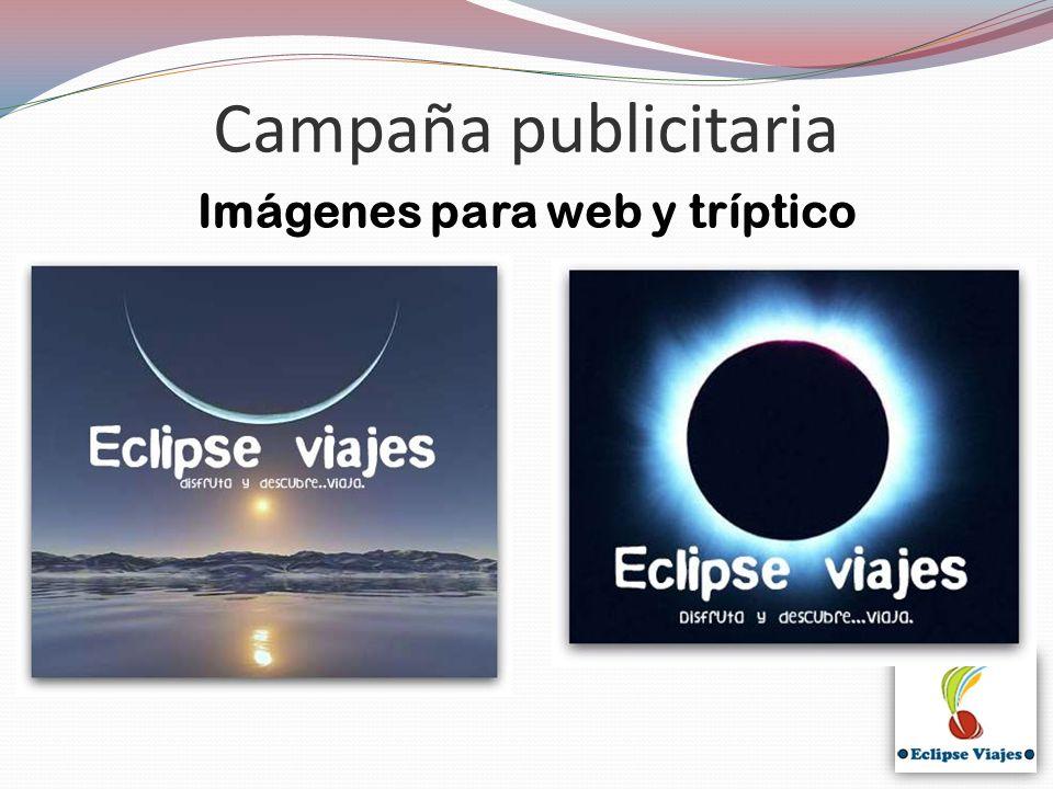 Campaña publicitaria Imágenes para web y tríptico