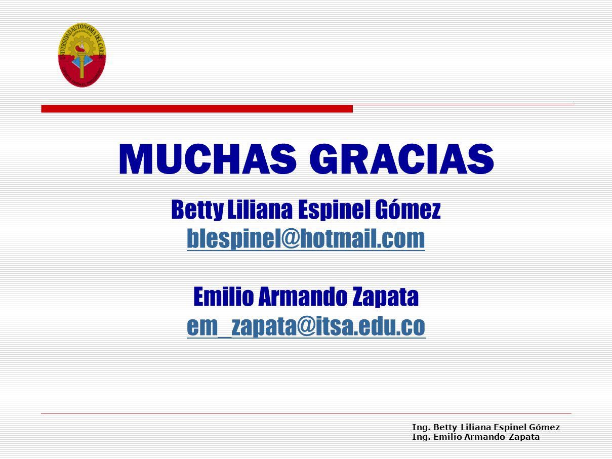 Ing.Betty Liliana Espinel Gómez Ing.
