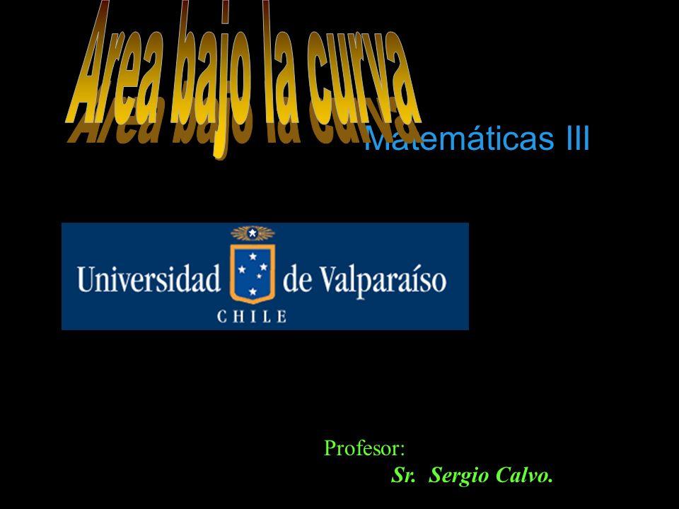 Matemáticas III Profesor: Sr. Sergio Calvo.