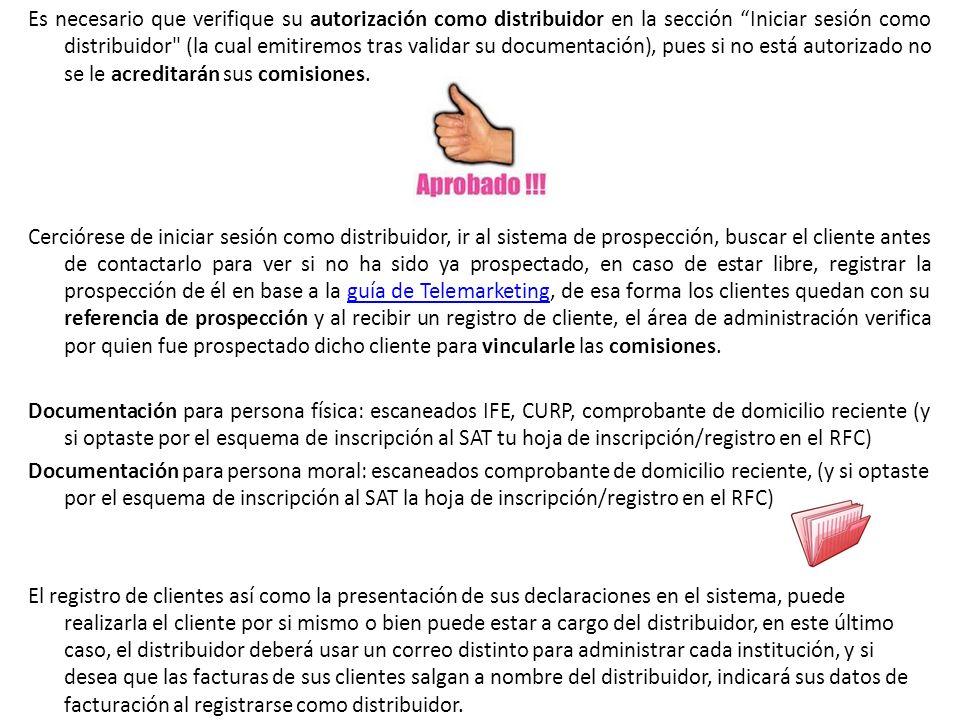 Es necesario que verifique su autorización como distribuidor en la sección Iniciar sesión como distribuidor