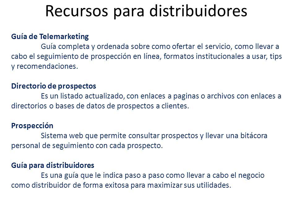 Guía de Telemarketing Guía completa y ordenada sobre como ofertar el servicio, como llevar a cabo el seguimiento de prospección en línea, formatos ins