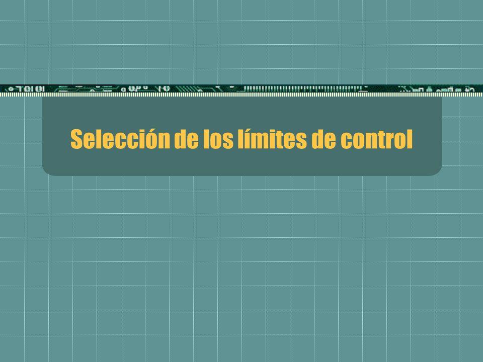 Selección de los límites de control