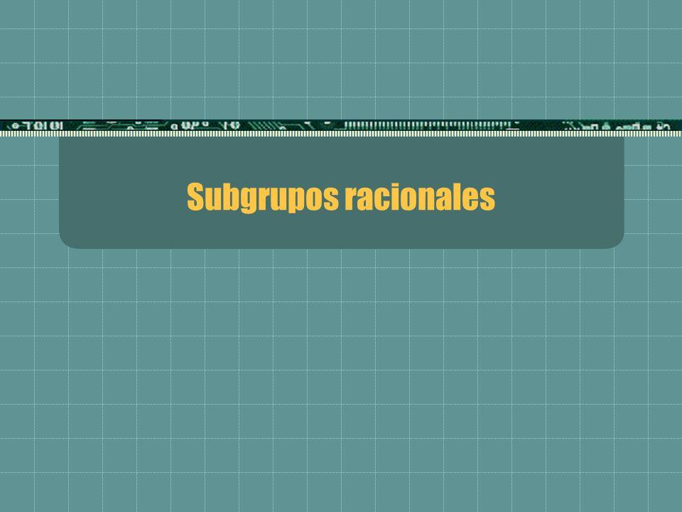 Subgrupos racionales