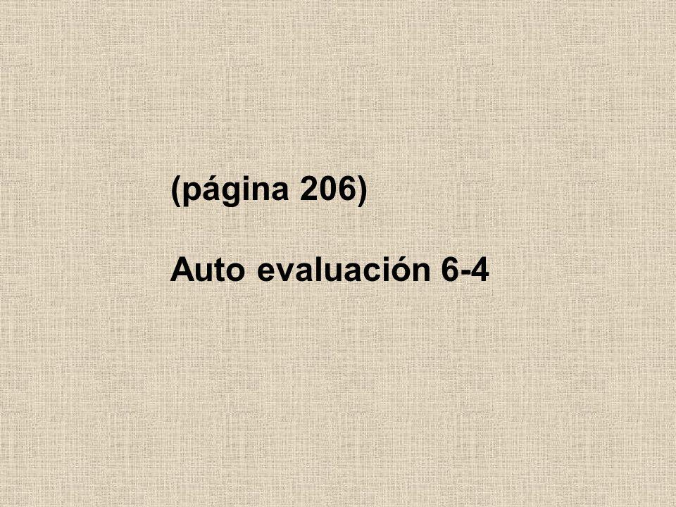 (página 206) Auto evaluación 6-4