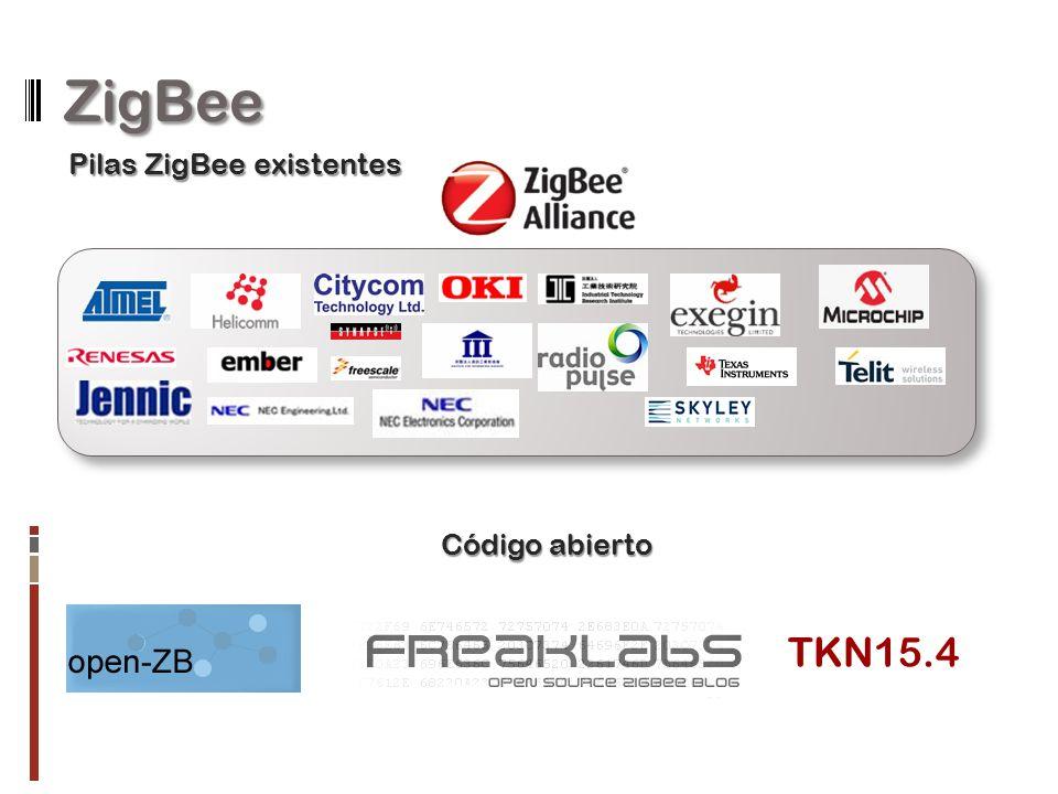ZigBee Pilas ZigBee existentes TKN15.4 Código abierto