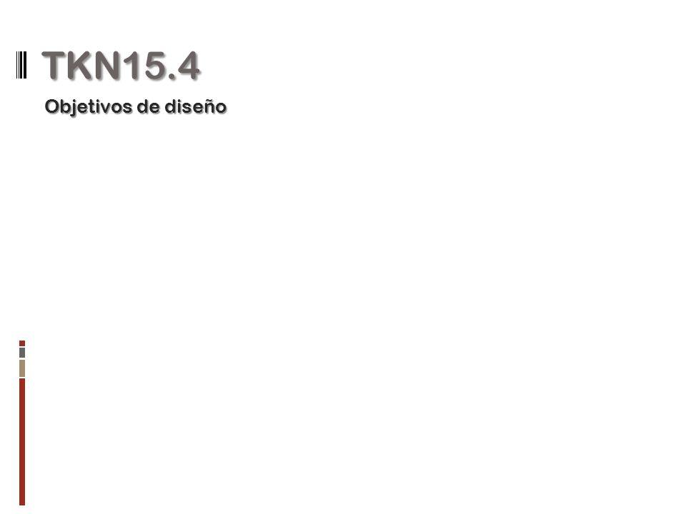 TKN15.4 Objetivos de diseño