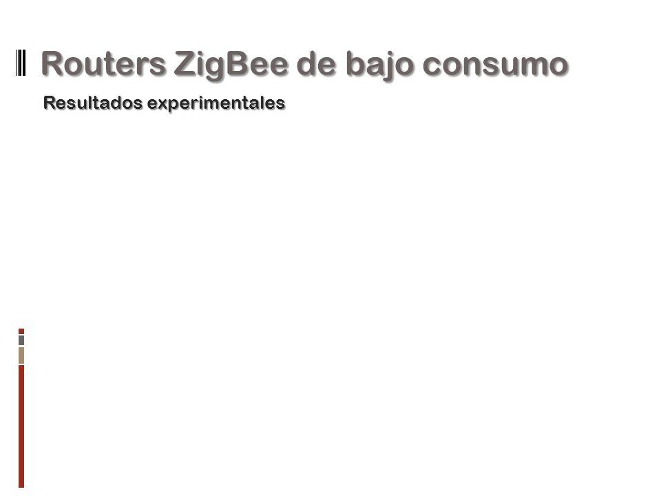 Routers ZigBee de bajo consumo Resultados experimentales